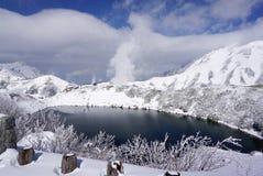Mudoro领域的Mikurigaike湖 免版税库存图片