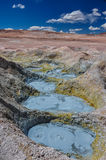 Mudpools in Geysers Sol Manana, Sur Lipez, South Bolivia Stock Photos