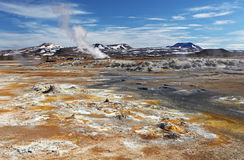 Mudpot in the geothermal area Hverir Royalty Free Stock Photography