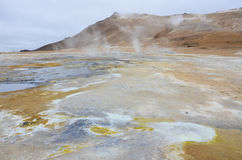 Mudpot at Hverir, Iceland royalty free stock photography