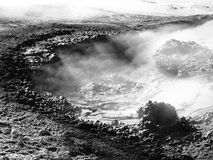 Mudpot of Sol de Manana geothermal area Royalty Free Stock Photo
