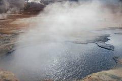 Mudpots dans le secteur géothermique, Islande Image libre de droits