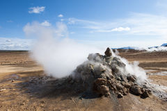 Mudpots in the geothermal area Hverir, Namafjall, Iceland Stock Image
