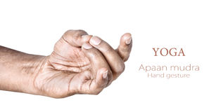 Mudra apaan de yoga Photo libre de droits