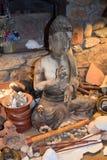 Mudra av Buddhastatyn Arkivfoto