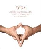 Mudra d'Uttarabodhi de yoga Photographie stock libre de droits