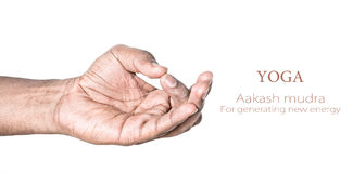 Mudra de Aakash de la yoga Imagen de archivo
