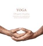Mudra de Dhyani da ioga imagens de stock