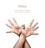 Mudra de Garuda de la yoga Foto de archivo