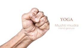 Mudra de Mushti de yoga Image libre de droits
