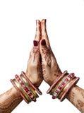 Mudra de Namaste Photographie stock libre de droits