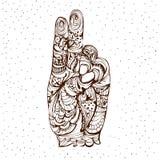 Mudra de Prana Mano en mudra de la yoga Imagen de archivo