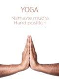 Mudra de prière de Namaste de yoga Photographie stock
