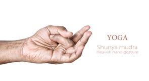 Mudra de shunya de yoga Photos libres de droits