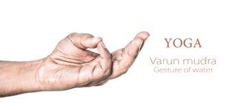 Mudra de Varun de la yoga Fotos de archivo libres de regalías