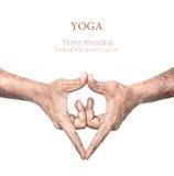 Mudra de Yoni da ioga foto de stock