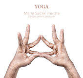 Mudra hand gesture Stock Photography