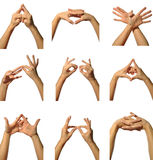 Mudra hands poses Stock Image
