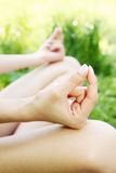Mudra for meditation Stock Image