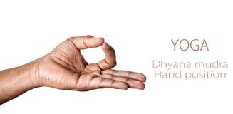 Mudra van Dyana van de yoga stock afbeelding
