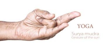 Mudra van Surya van de yoga Royalty-vrije Stock Afbeelding