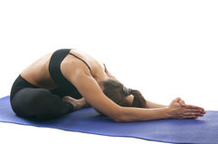 Mudrasana di yoga fotografie stock libere da diritti