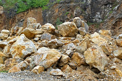 Mudslide. Pile of rocks and stones after mudslide catastrophe Stock Images