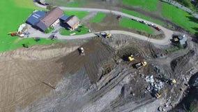 Mudslide, apls austria, Salzburg stock footage
