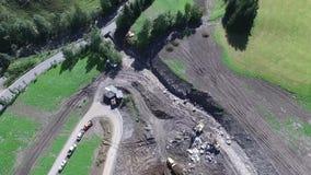 Mudslide stock video footage