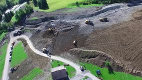 Mudslide in Rauris, cleaning up after violent storms in Rauris (Pinzgau) Austria alps stock video footage