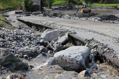 Mudslides scar the hillsides of austria following heavy rain. Eu Royalty Free Stock Photos