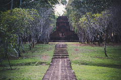 Mueang唱历史公园,北碧泰国 免版税库存图片