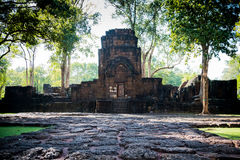 Mueang唱历史公园,北碧泰国 库存照片