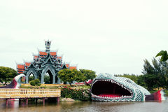Mueang Boran fish mouth open Stock Photography