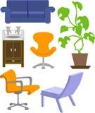 Muebles ilustración del vector