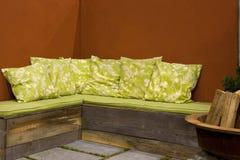 Muebles al aire libre del patio Fotografía de archivo