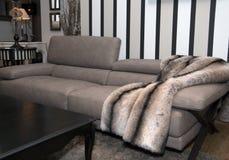 Muebles caseros modernos de la sala de estar Fotos de archivo libres de regalías