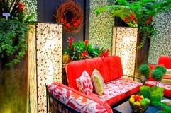 Muebles caseros modernos del patio Imagen de archivo libre de regalías