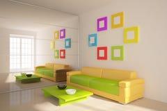 Muebles coloreados Imagen de archivo libre de regalías