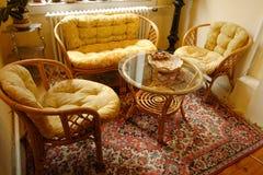 Muebles de bambú Imágenes de archivo libres de regalías