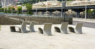 Muebles de calle concretos Imágenes de archivo libres de regalías