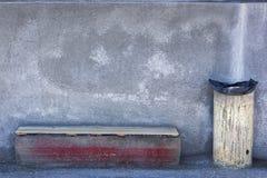 Muebles de calle sólidos en Heraklion Imagen de archivo libre de regalías