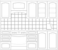 Muebles de la cocina Fotos de archivo libres de regalías