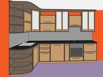 Muebles de la cocina ilustración del vector