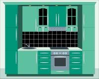 Muebles de la cocina. Foto de archivo