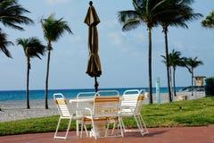 Muebles de la playa Imagen de archivo libre de regalías