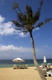 Muebles de la playa, Sanur, Bali imagen de archivo libre de regalías