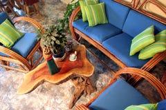 Muebles de la terraza Fotografía de archivo libre de regalías