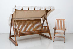 Muebles de madera Imágenes de archivo libres de regalías