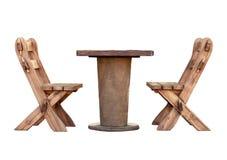 Muebles de madera de los aislantes del jardín imágenes de archivo libres de regalías